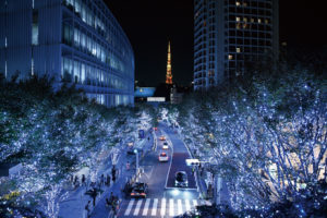 クリスマスパーティー ヒルズケヤキ坂 イルミネーション メリ☆クリ
